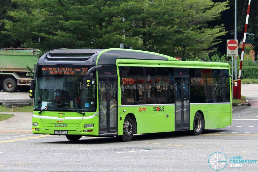 Bus 75: SMRT MAN Lion's City A22 (SMB271U)