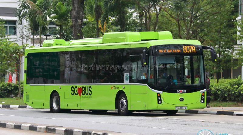 Bus 807A: SBS Transit BYD K9 (SG3069X)