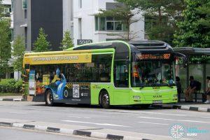 Bus 807: SBS Transit MAN Lion's City A22 (SMB3163D)