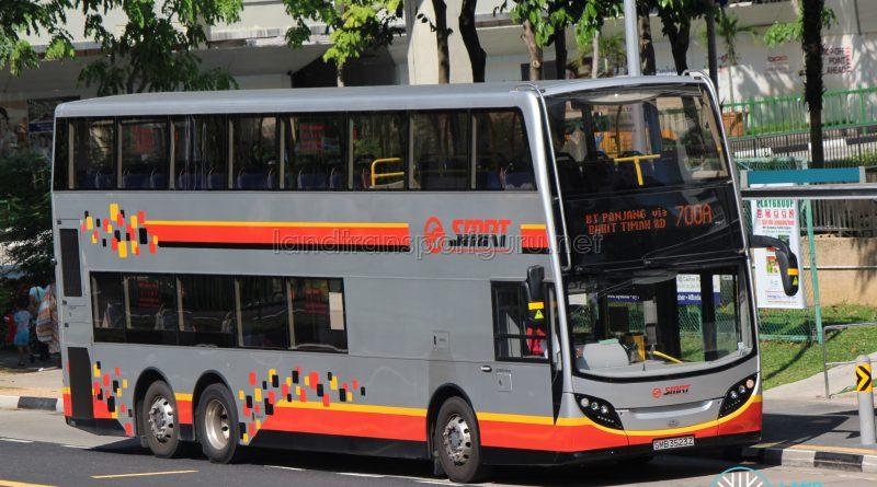 Bus 700A: SMRT ADL Enviro500 (SMB3523Z)