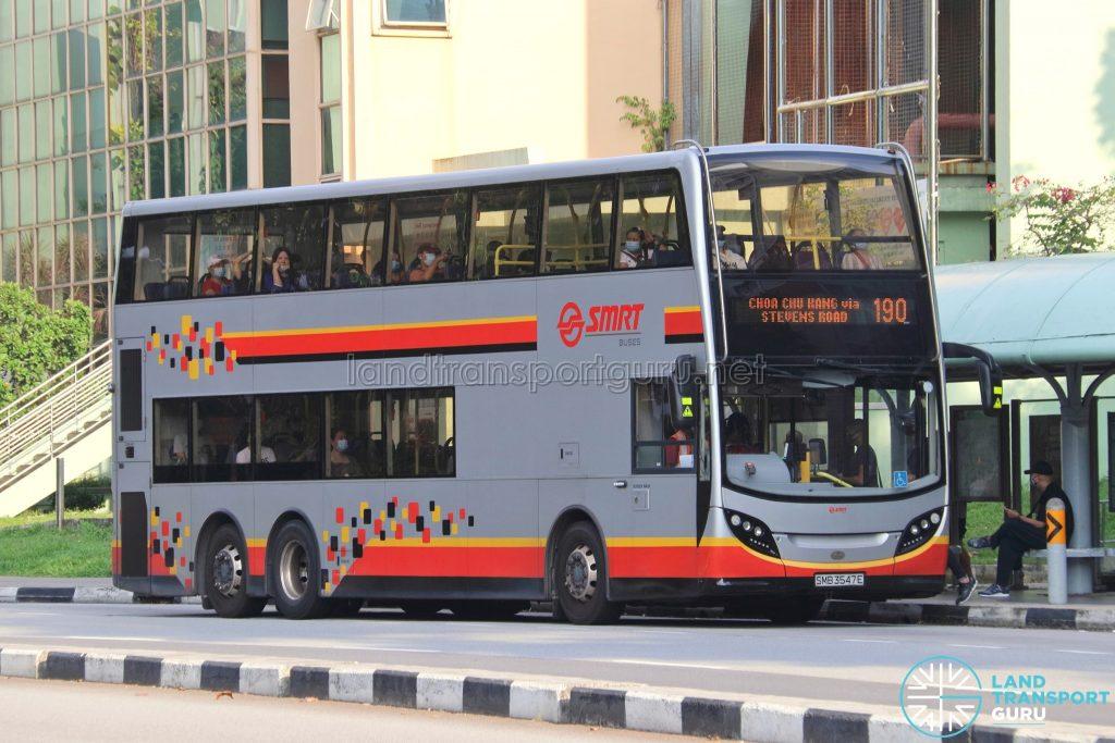Bus 190: SMRT Alexander Dennis Enviro500 (SMB3547E)