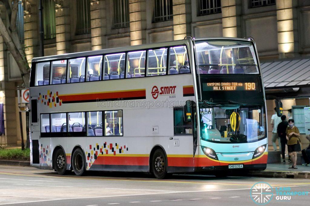 Bus 190: SMRT Alexander Dennis Enviro500 (SMB5019A)