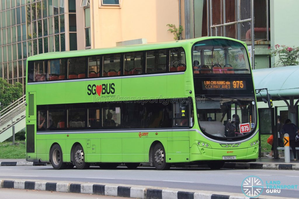 Bus 975: SMRT Volvo B9TL Wright (SG5152A)