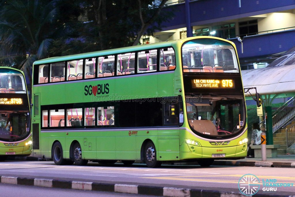 Bus 975: SMRT Volvo B9TL Wright (SG5157L)