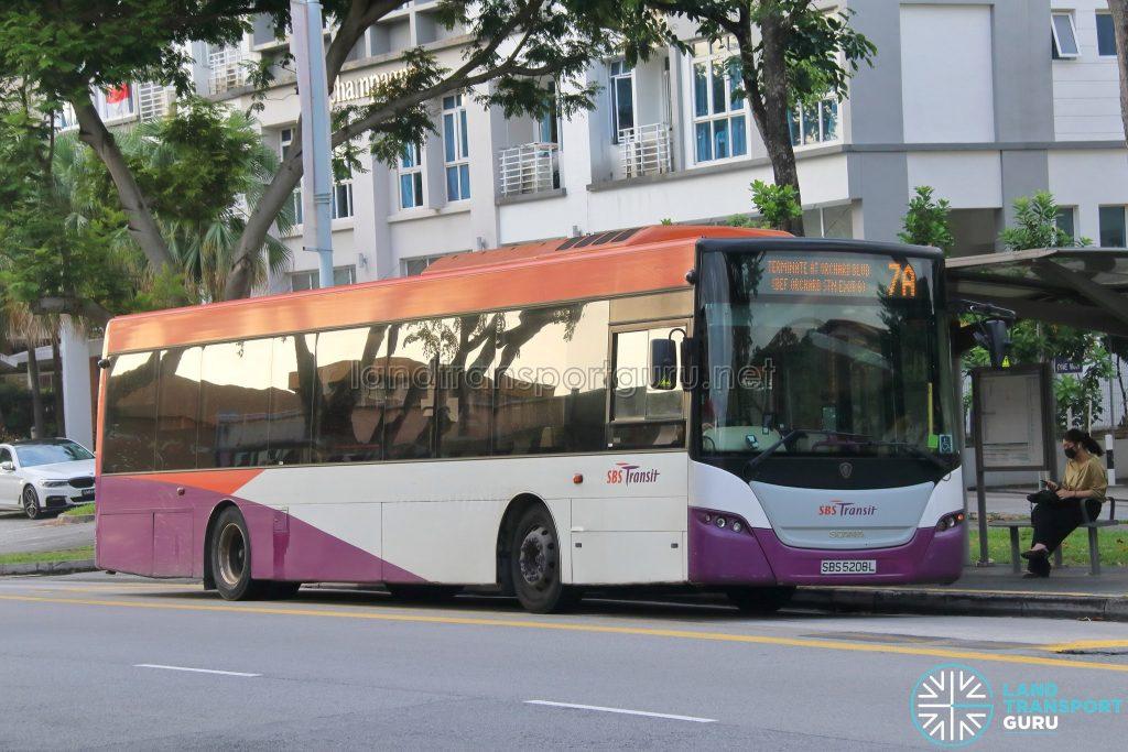 Bus 7A - SBS Transit Scania K230UB Euro V (SBS5208L)