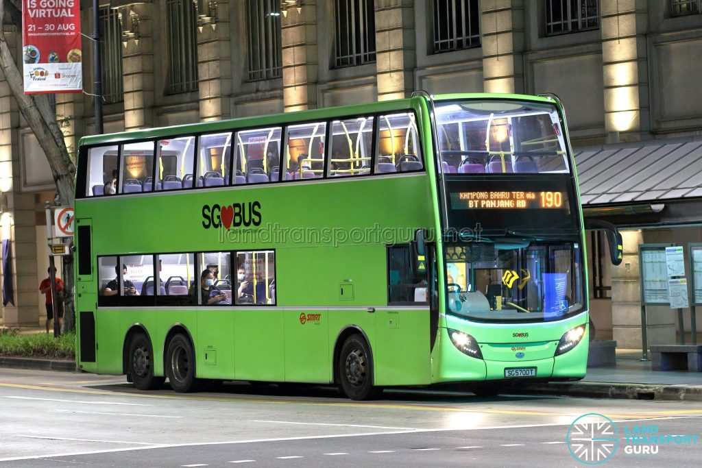 Bus 190: SMRT Alexander Dennis Enviro500 (SG5700T)
