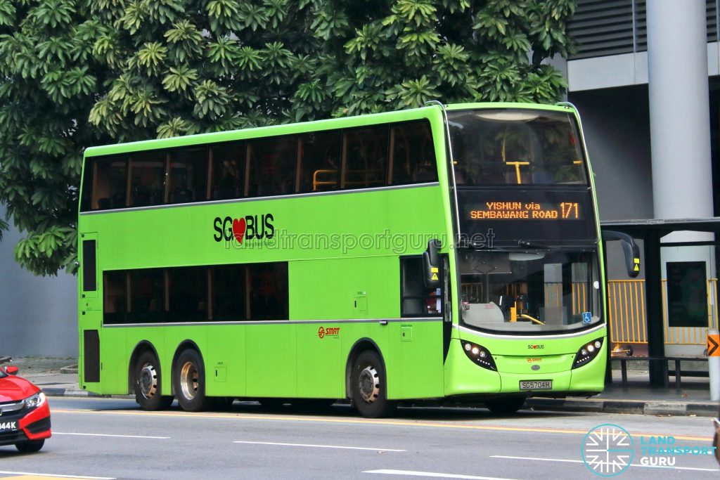 Bus 171: SMRT Alexander Dennis Enviro500 (SG5704H)