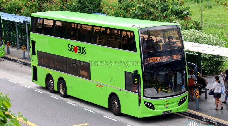 Bus 965: SMRT Alexander Dennis Enviro500 (SG5710P)