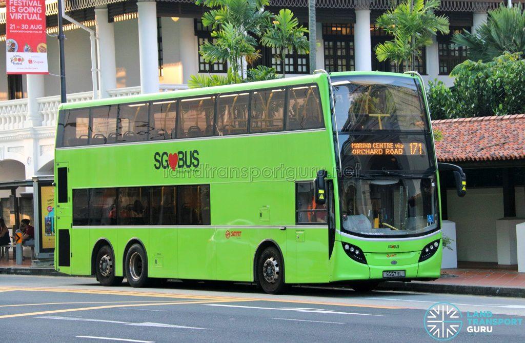Bus 171: SMRT Alexander Dennis Enviro500 (SG5711L)