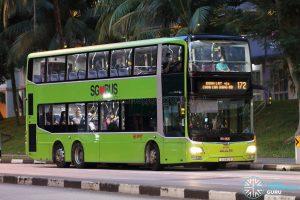 Bus 172: SMRT MAN Lion's City DD A95 (SG5813B)