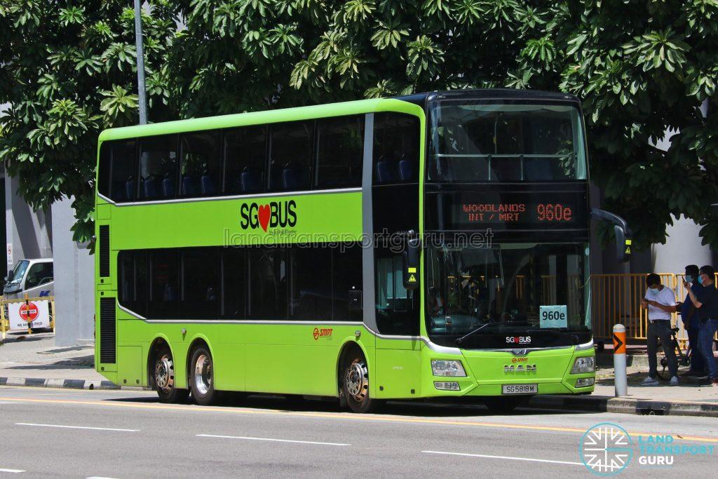 Bus 960e: SMRT MAN Lion's City DD A95 (SG5818M)