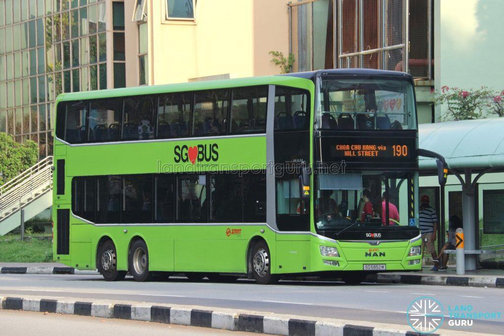 Bus 190: SMRT MAN Lion's City DD A95 (SG5852M)
