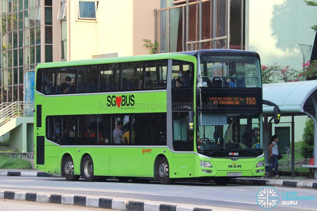 Bus 190: SMRT MAN Lion's City DD A95 (SG5858Y)