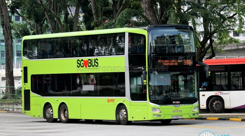 Bus 980: SMRT MAN Lion's City DD A95 (SG5867K)