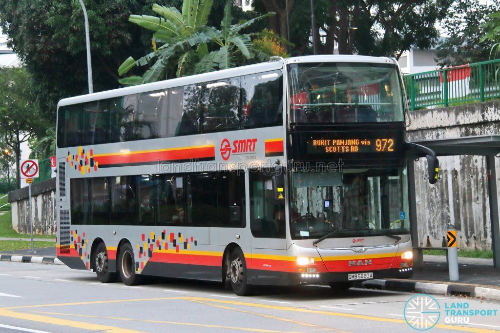 Bus 972: SMRT MAN Lion's City DD A95 (SMB5890A)