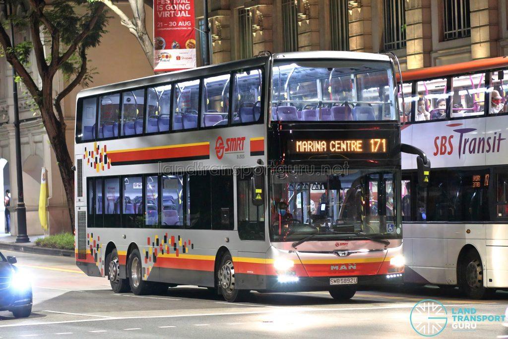 Bus 171: SMRT MAN Lion's City DD A95 (SMB5892U)