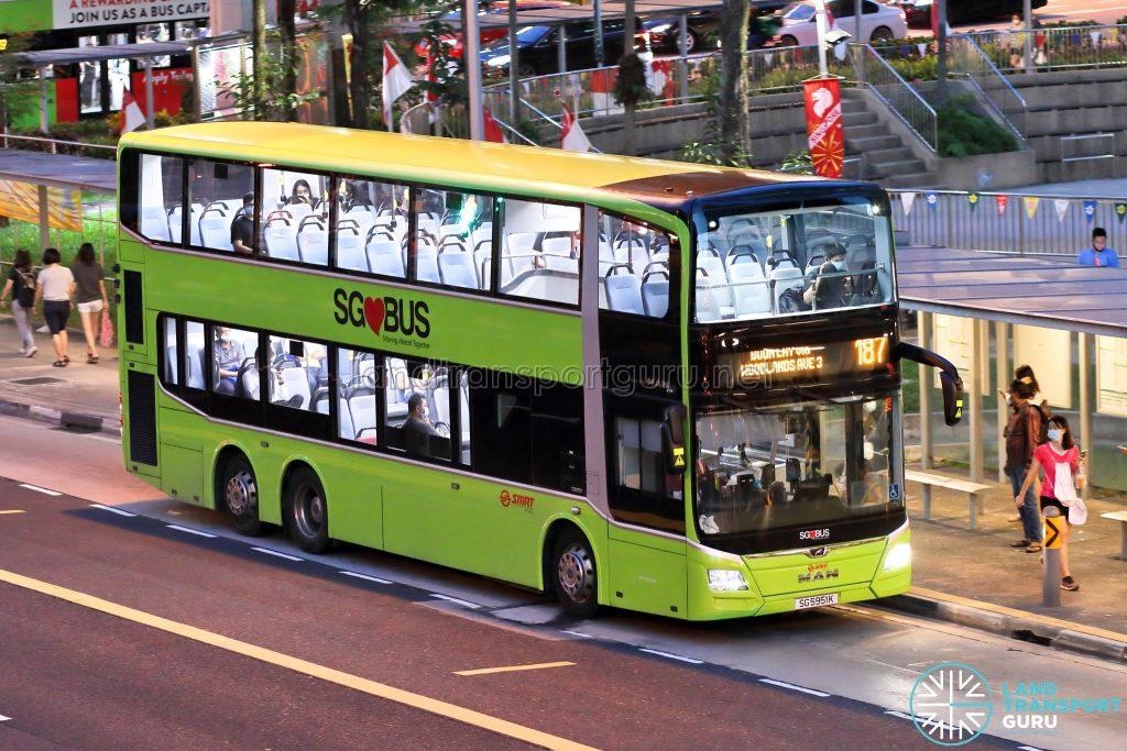 Bus 187: SMRT MAN Lion's City DD A95 (SG5951K)