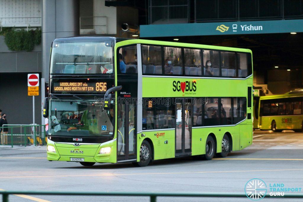 Bus 856: SMRT MAN Lion's City DD A95 (SG6013L)