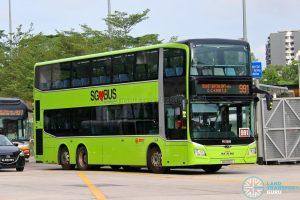 Bus 991: SMRT MAN Lion's City DD A95 (SG6016D)