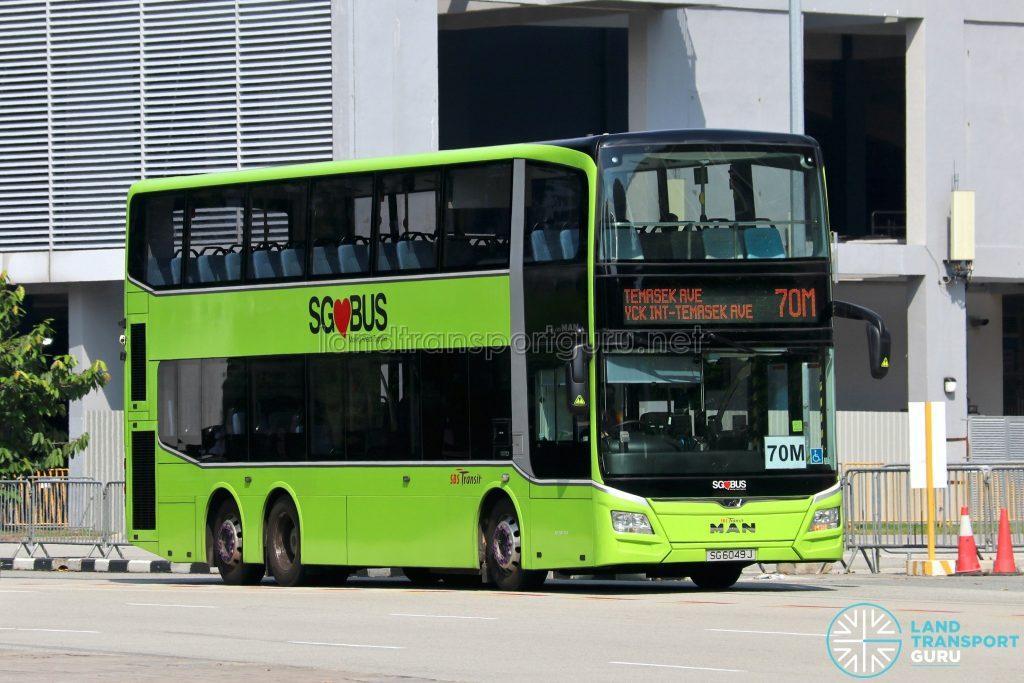 Bus 70M: SBS Transit MAN Lion's City DD A95 (SG6049J)