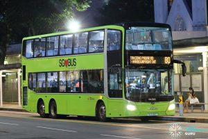 Bus 80: SBS Transit MAN Lion's City DD A95 (SG6089T)