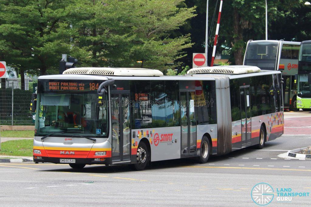 Bus 184: SMRT MAN A24 (SMB8034K)
