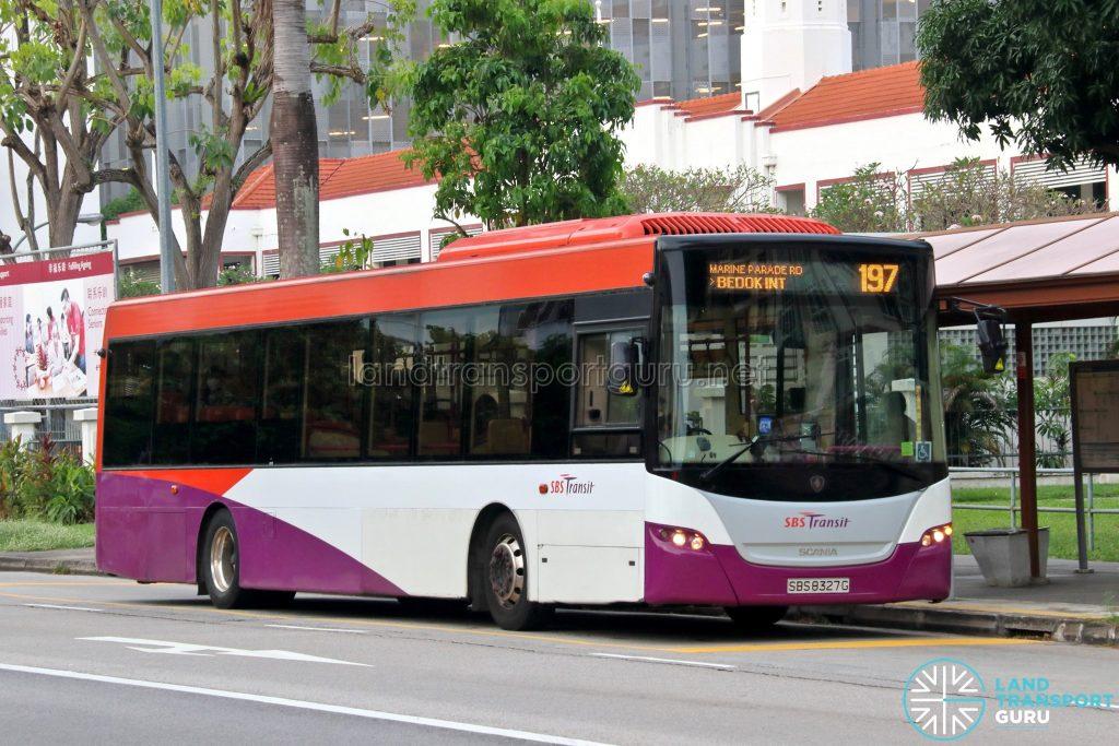 Bus 197: SBS Transit Scania K230UB (SBS8327G)