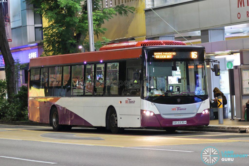 Bus 16: SBS Transit Scania K230UB (SBS8335H)