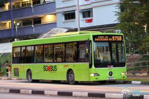 Bus 975A: SMRT Mercedes-Benz OC500LE (SMB85R)