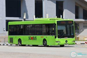 Bus 700A: SMRT Mercedes-Benz OC500LE (SMB91Y)