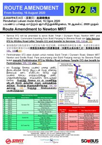 Bus 972: Route Amendment to Newton MRT