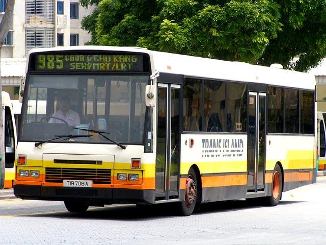Bus 985: Trans-Island DAF SB220 (TIB708A)