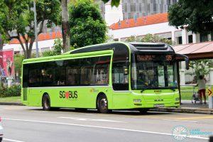 Bus 135: SBS Transit MAN Lion's City A22 (SG1702P)