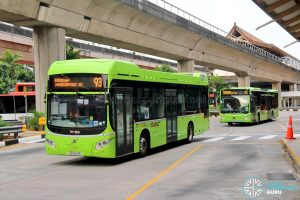 Service 93 - SBS Transit Volvo B5LH (SG3001R) & Mercedes-Benz Citaro hybrid (SG4004B)
