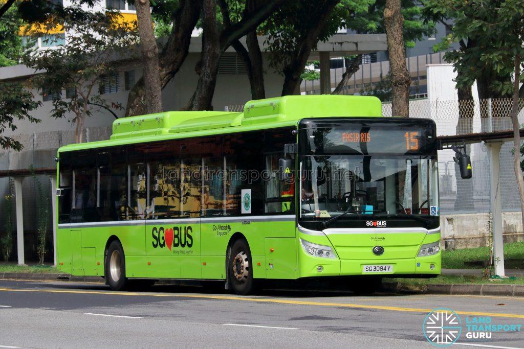 Bus 15 - Go-Ahead Singapore Yutong E12 (SG3094Y)