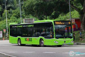 Bus 93 - SBS Transit Mercedes-Benz Citaro hybrid (SG4004B)