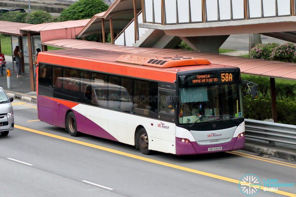 Bus 58A - SBS Transit Scania K230UB Euro V (SBS5169R)