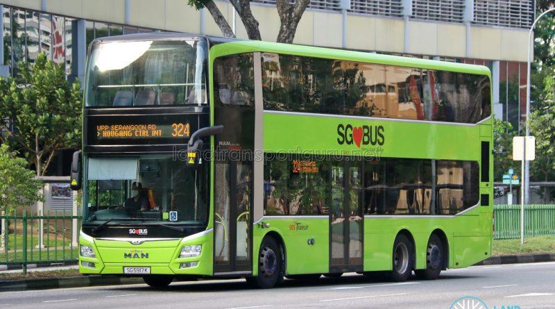 Bus 324 - SBS Transit MAN A95 (SG5917K)