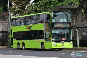 Bus 61: SMRT MAN Lion's City DD A95 (SG6011S)