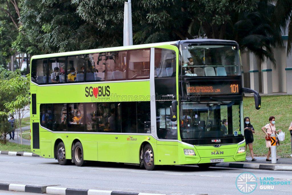 Bus 101: SBS Transit MAN Lion's City DD A95 (SG6044Y)