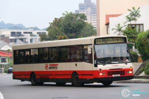 Bus 173: SMRT DAF SB220 (TIB705H)