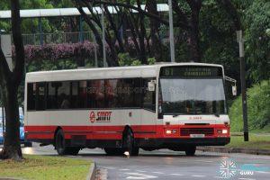 Bus 61: SMRT DAF SB220 (TIB709Y)