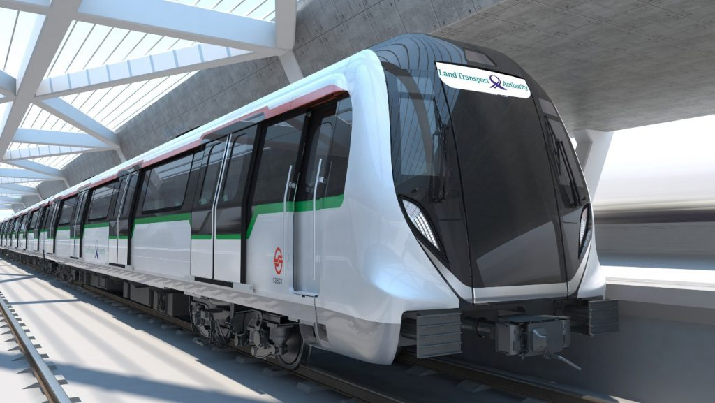 Exterior of Bombardier MOVIA CR151 (40 Additional New Trains Ordered in September 2020) (Image: LTA)