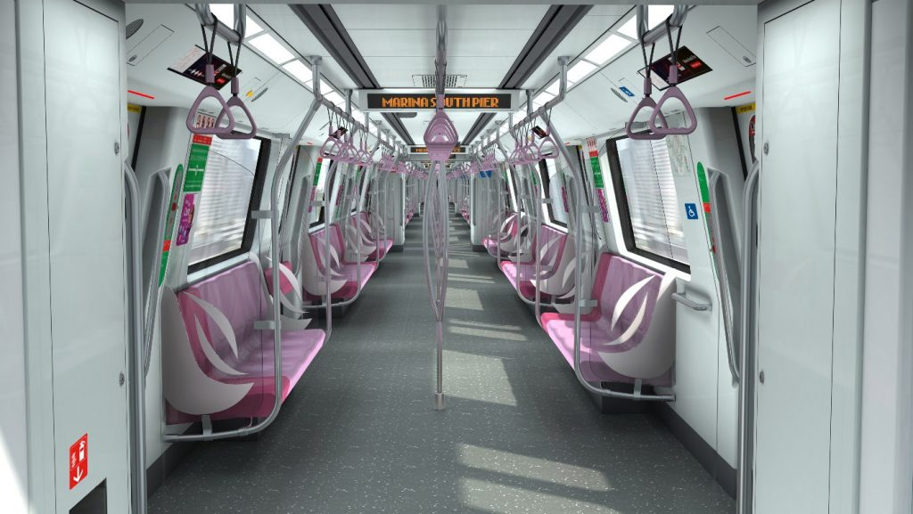 Interior of Bombardier MOVIA CR151 (40 Additional New Trains Ordered in September 2020) (Image: LTA)