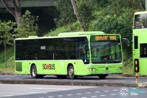 Bus 990 - Tower Transit Mercedes-Benz Citaro (SG1001D)