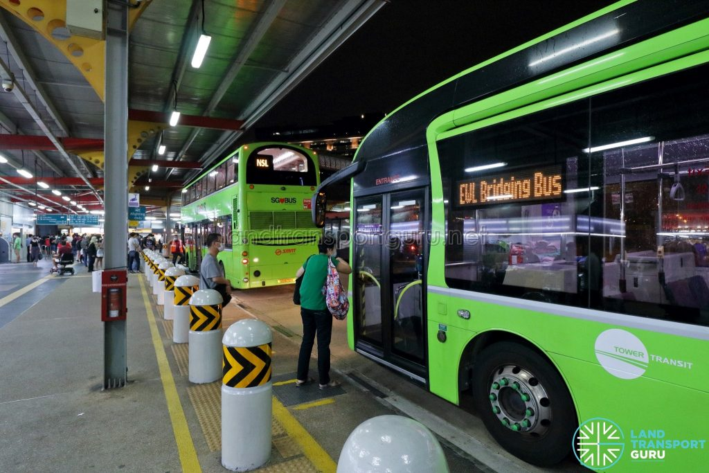 NSL & EWL Bridging Bus at Jurong East Temp Int during MRT Disruption on 14 Oct 2020