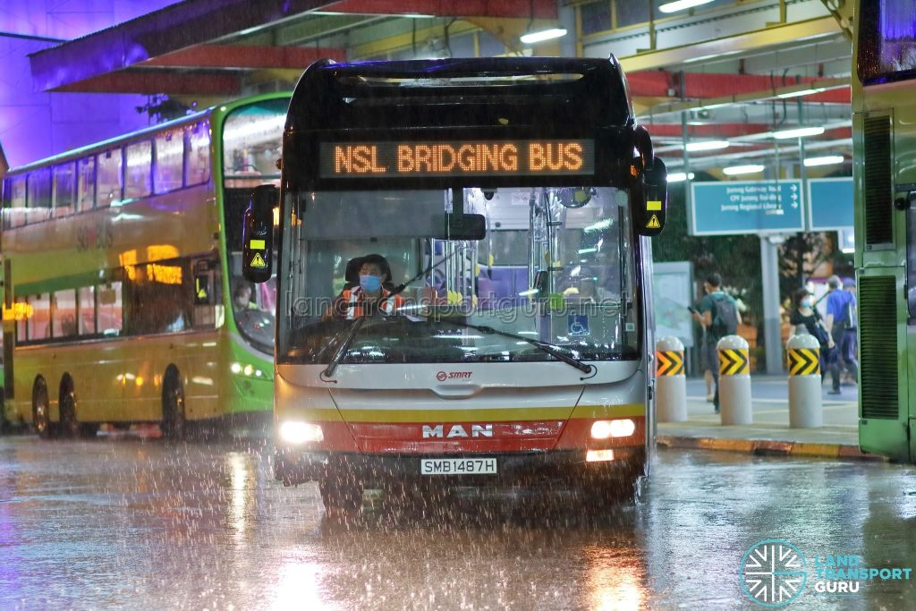 NSL Free Bridging Bus (SMB1487H) at Jurong East Temp Int
