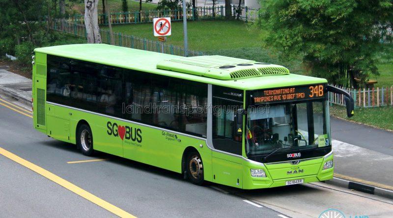 Bus 34B - Go-Ahead Singapore MAN A22 Euro 6 (SG1843R)