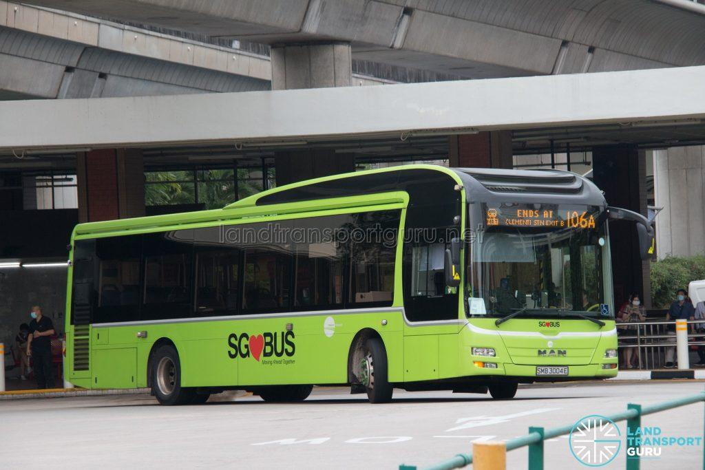Bus 106A: Tower Transit MAN A22 (SMB3004E)