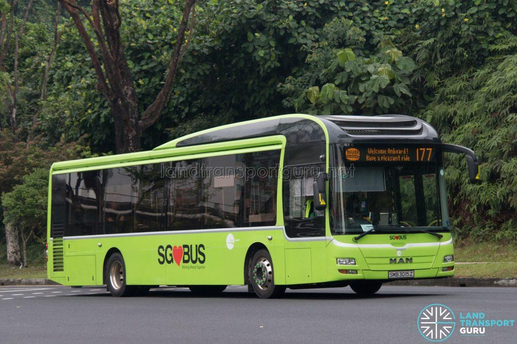 Bus 177: Tower Transit MAN A22 (SMB3015Z)